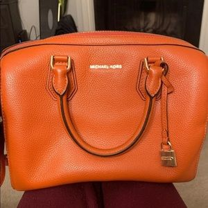 Orange Michael Kors bag